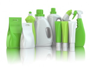 Green eco-friendly cleaning products